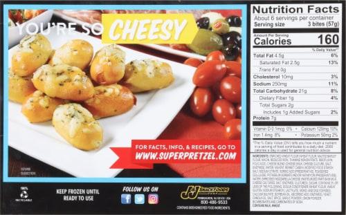 SuperPretzel Soft Pretzel Mozzarella Cheese Bites Perspective: back