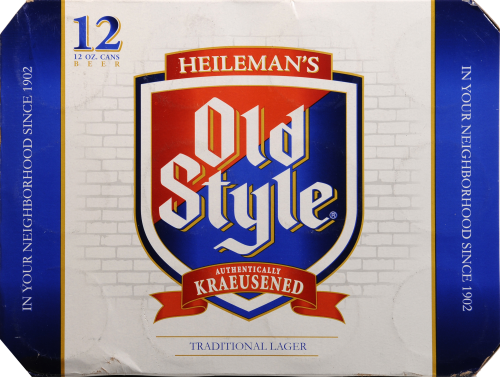 Old Style Traditional Lager Perspective: back