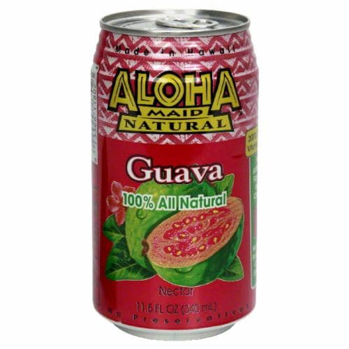 Aloha Maid Guava Nectar Perspective: back