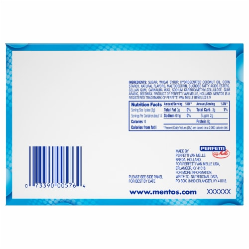 Mentos Chewy Mint Rolls (15 Pack) Perspective: back