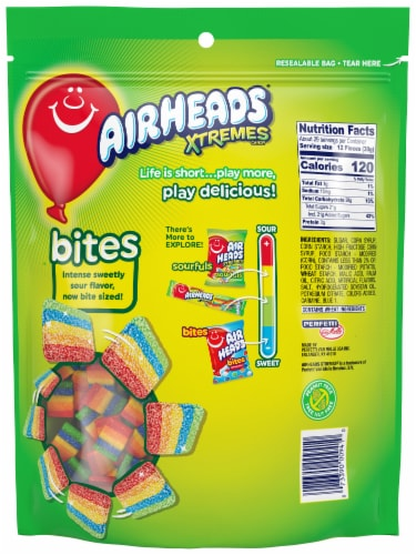 Airheads Xtremes Bites Rainbow Berry Candy Perspective: back
