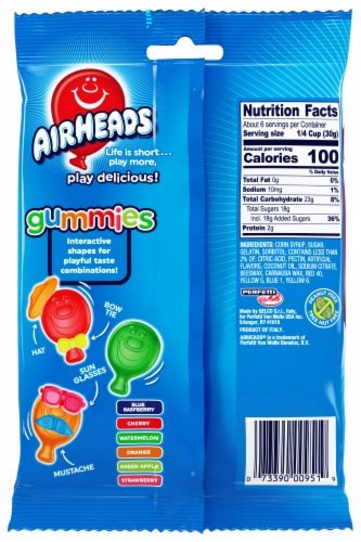 Airheads Original Fruit Gummies Candy Perspective: back