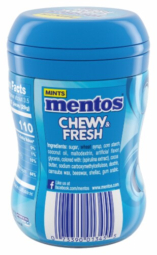 Mentos Chewy & Fresh Peppermint Chewy Mints Perspective: back