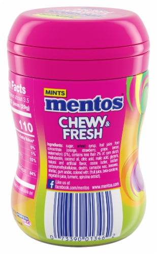 Mentos Chewy & Fresh Mixed Fruit Chewy Mints Perspective: back