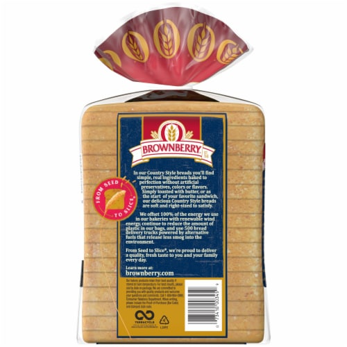Brownberry® Country Buttermilk Sliced Bread Perspective: back