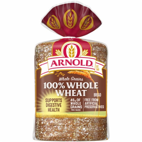 Arnold® Whole Grains 100% Whole Wheat Sliced Bread Perspective: back