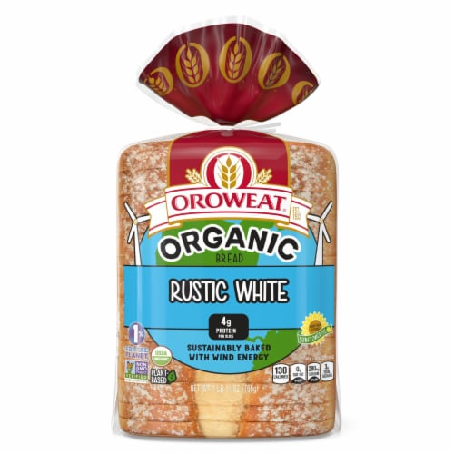Oroweat Organic Rustic White Bread Perspective: back