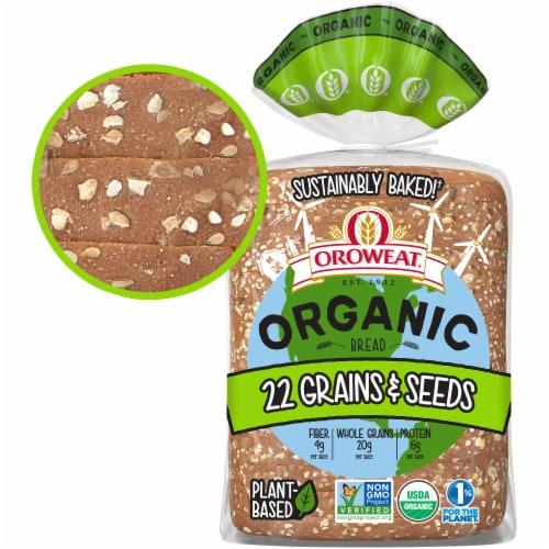 Oroweat Organic 22 Grains & Seeds Bread Perspective: back