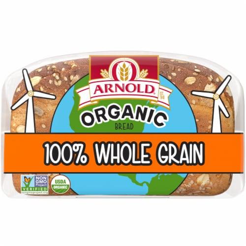 Arnold® Organic 100% Whole Grain Bread Perspective: back