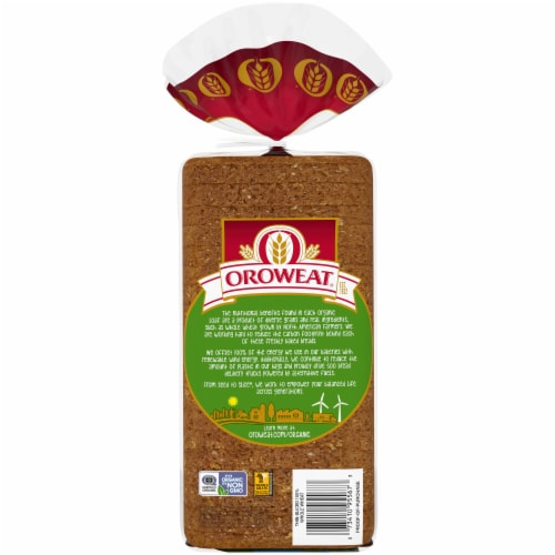 Oroweat® Organic Thin-Sliced Whole Wheat Bread Perspective: back