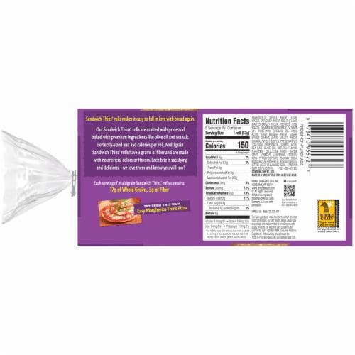 Arnold® Multigrain Sandwich Thins Perspective: back