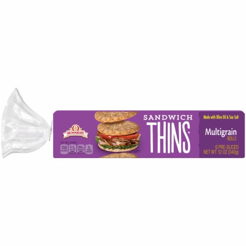 Brownberry Multigrain Sandwich Thins 6 Count Perspective: back