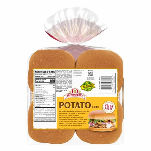 Brownberry Country Potato Sandwich Buns 8 Count Perspective: back
