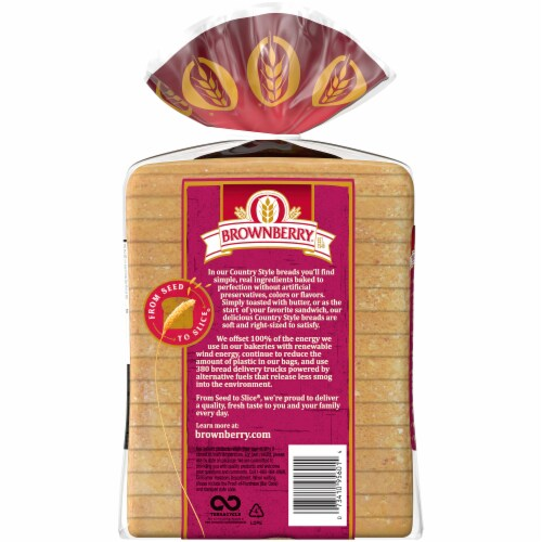 Brownberry® Country Sourdough Bread Perspective: back