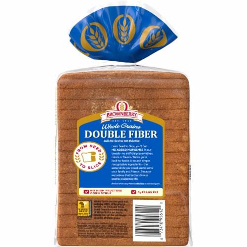 Brownberry Whole Grains Double Fiber Bread Perspective: back