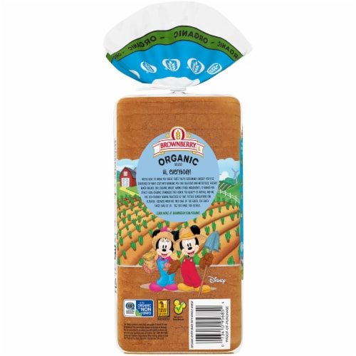 Brownberry® Organic White with Whole Wheat Bread Perspective: back