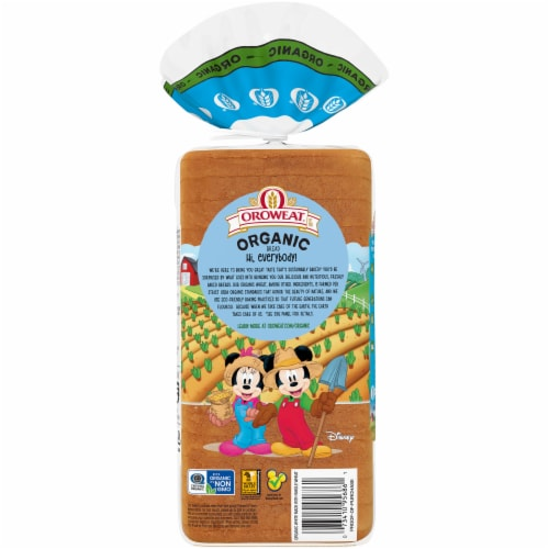 Oroweat® Organic White Made with Whole Wheat Bread Perspective: back