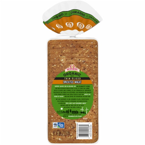 Brownberry® Organic Thin-Sliced Sprouted Wheat Bread Perspective: back