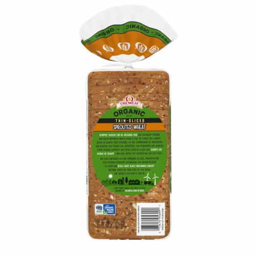 Oroweat Organic Thin-Sliced Sprouted Wheat Bread Perspective: back