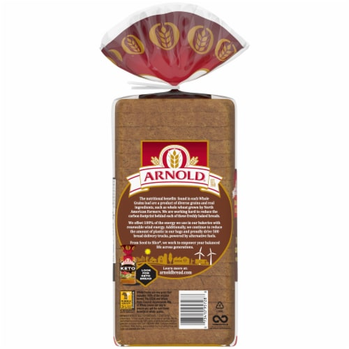 Arnold Small Slice 100% Whole Wheat Bread Perspective: back