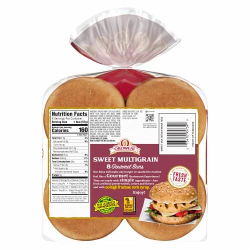 Oroweat Sweet Multrigrain Gourmet Hamburger Buns Perspective: back