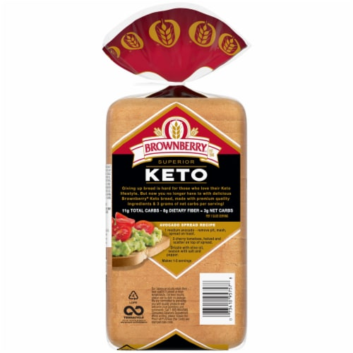 Brownberry Superior Keto Bread Perspective: back