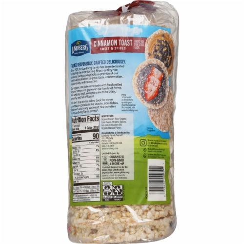 Lundberg® Gluten Free Cinnamon Toast Organic Rice Cakes Perspective: back