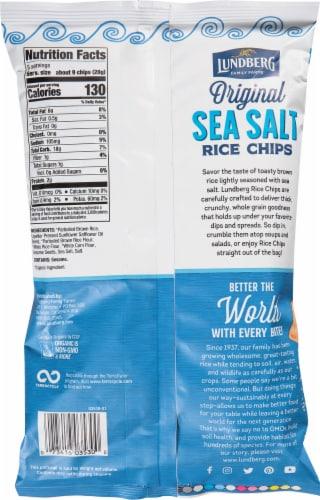 Lundberg Gluten Free Sea Salt Rice Chips Perspective: back
