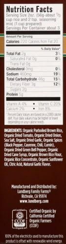Lundberg Organic Whole Grain Spanish Rice & Seasoning Mix Perspective: back
