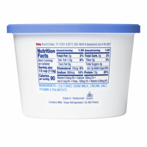 Daisy Low Fat Cottage Cheese Perspective: back