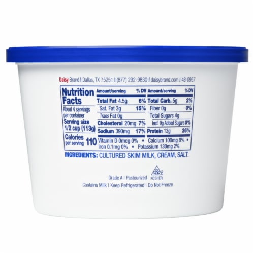 Daisy Pure & Natural Cottage Cheese Perspective: back