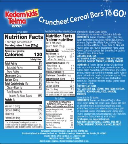 Kedem Kids Chocolate Crunchee! Cereal Bars Perspective: back