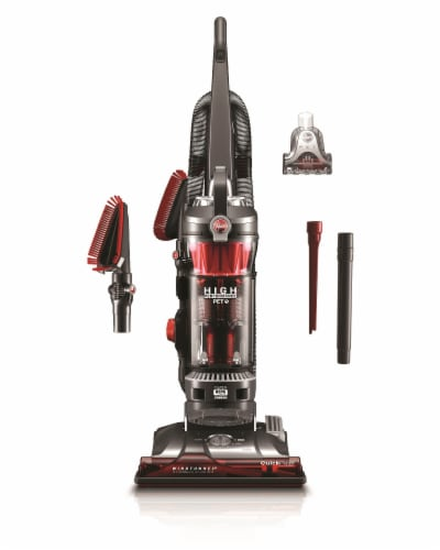 Hoover® WindTunnel 3 High Performance Pet Vacuum - Red/Black Perspective: back