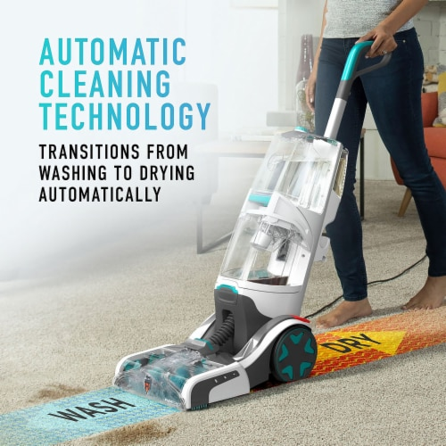 Hoover SmartWash + Automatic Carpet Cleaner - Gray/Green Perspective: back