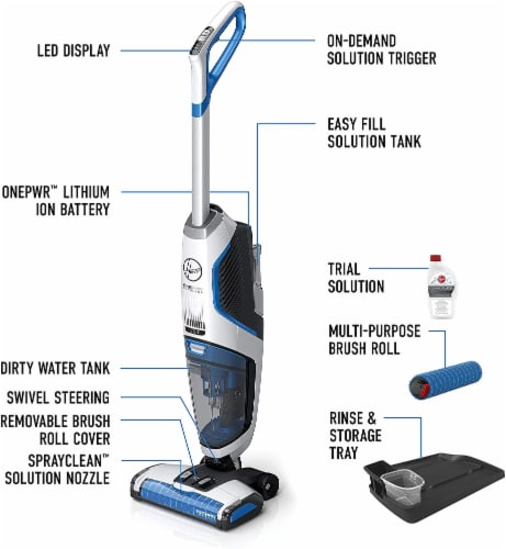 Hoover® Cordless Floor Cleaner Kit Perspective: back