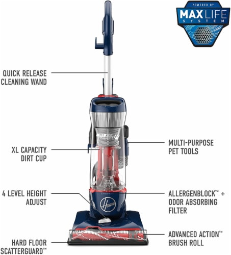 Hoover® Pet Max Bagless Upright Vacuum With Attachments Perspective: back