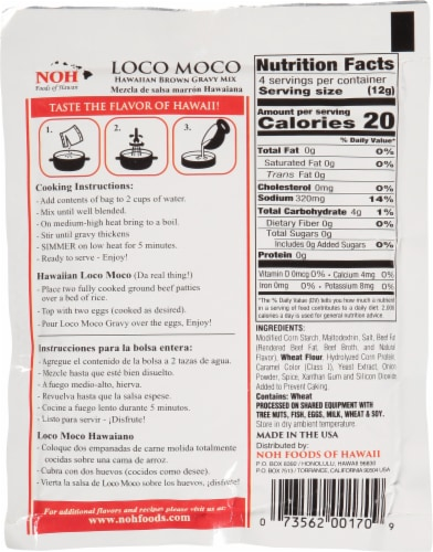 NOH Loco Moco Brown Gravy Mix Perspective: back
