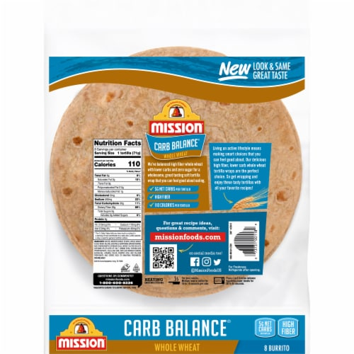 Mission Carb Balance Whole Wheat Burrito Tortillas Perspective: back