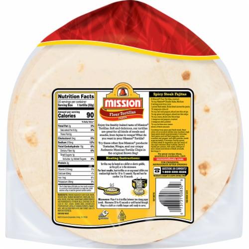 Mission Fajita Super Soft Flour Tortillas Perspective: back