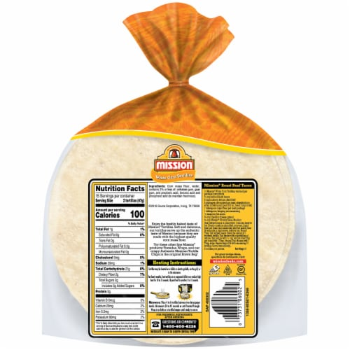 Mission Super Soft White Corn Tortillas 30 Count Perspective: back