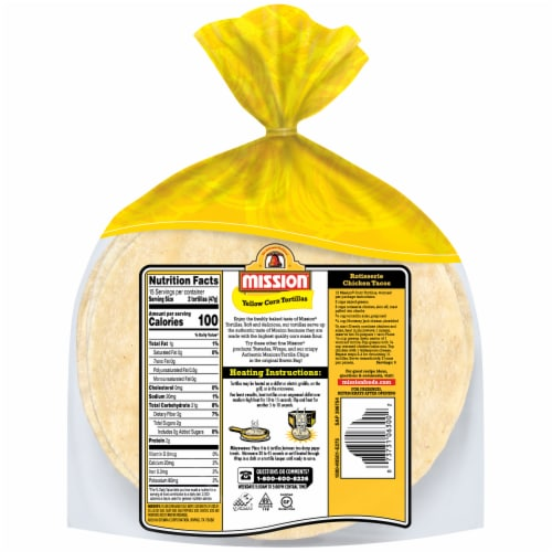 Mission Super Soft Yellow Corn Tortillas Perspective: back