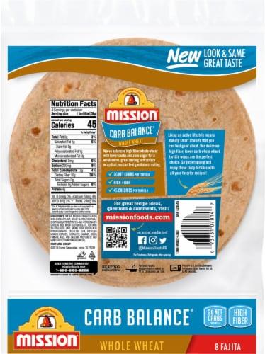 Mission Carb Balance Whole Wheat Fajita Tortillas Perspective: back