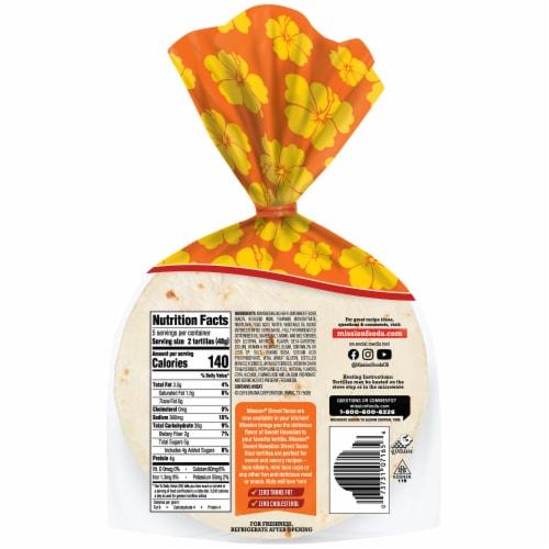 Mission Street Tacos Sweet Hawaiian Super Soft Flour Tortillas Perspective: back