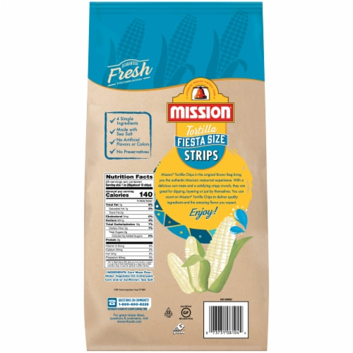 Mission Tortilla Strips Fiesta Size Perspective: back