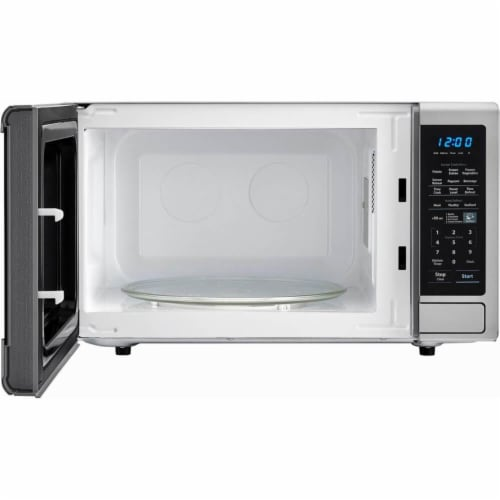 Sharp Stainless Steel Carousel Countertop Microwave Oven - Silver/Black Perspective: back