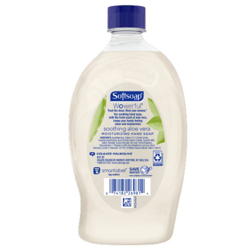 Softsoap Soothing Aloe Vera Fresh Scent Moisturizing Liquid Hand Soap Refill Perspective: back