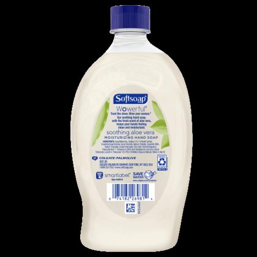 Softsoap Soothing Aloe Vera Fresh Scent Moisturizing Liquid Hand Soap Refill Perspective: back