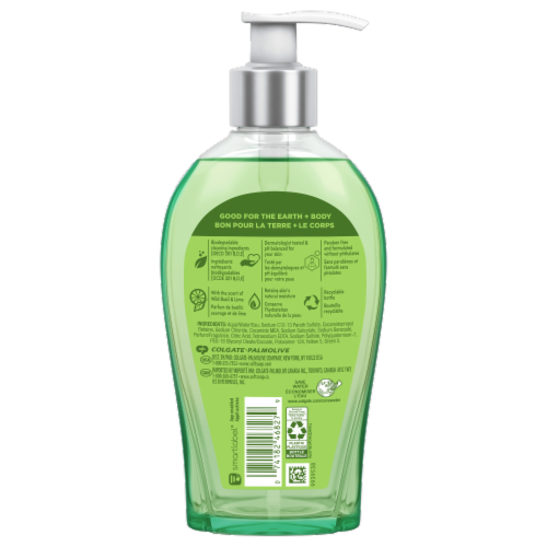 Softsoap Decor Collection Wild Basil & Lime Liquid Hand Soap Perspective: back