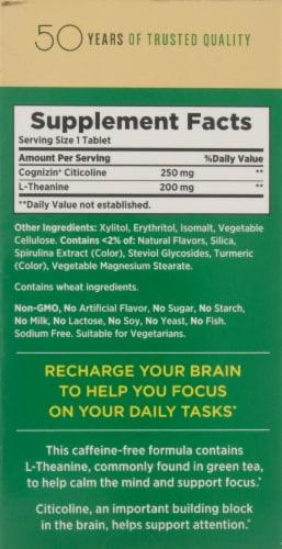 Nature's Bounty® Brain Focus Matcha Lemon Flavored Cool Melts Perspective: back