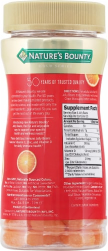 Nature's Bounty® Immune Orange Flavored Jelly Beans Perspective: back